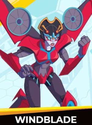 Windblade - Transformers cybergverse personaggi robot cartonio animati k2