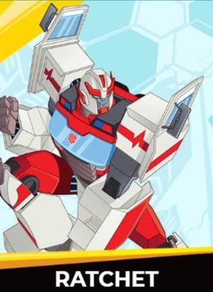 Ratchet - Transformers cybergverse personaggi robot cartonio animati k2