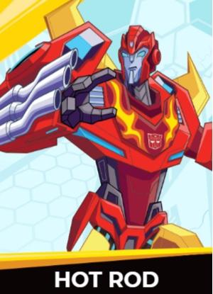 Hot Rod - Transformers cybergverse personaggi robot cartonio animati k2