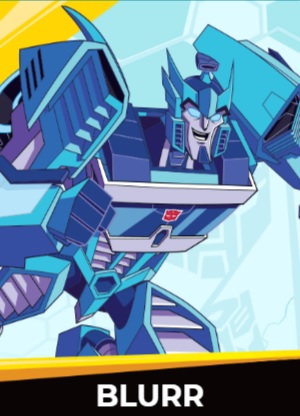 Blurr - Transformers cybergverse personaggi robot cartonio animati k2