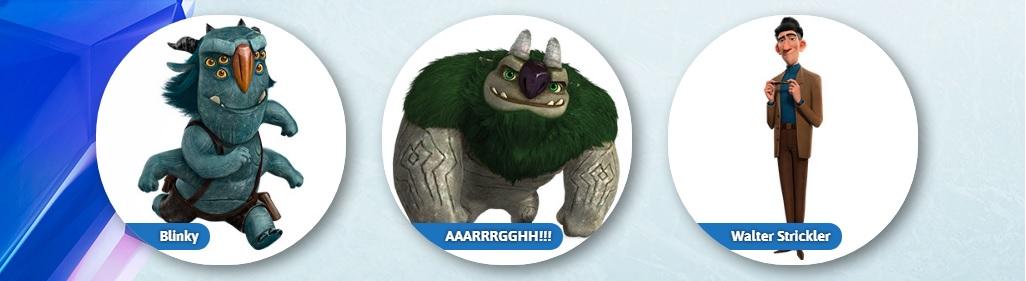 Trollhunters cartone animato personaggi Blinky AAARRGGHH Walter Strikler