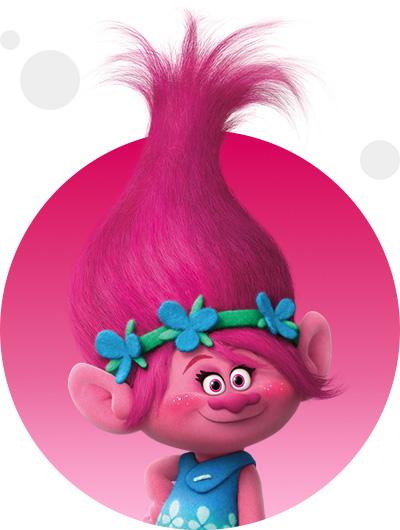 trolls dreamworks cartoni animati personaggi film d'animazione personaggio Poppy