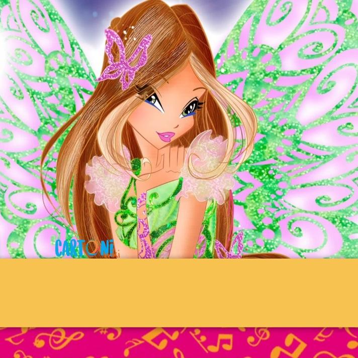 Biglietti di auguri Winx Flora - Biglietti auguri
