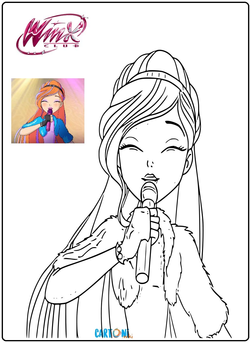 Winx 8 Disegni Da Colorare Cartoni Animati