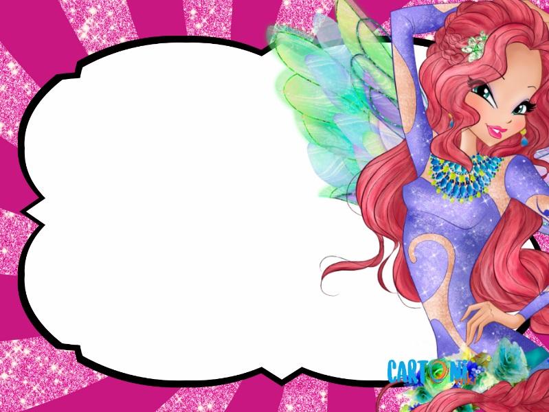 Flora inviti festa compleanno Winx Club - Inviti feste compleanno