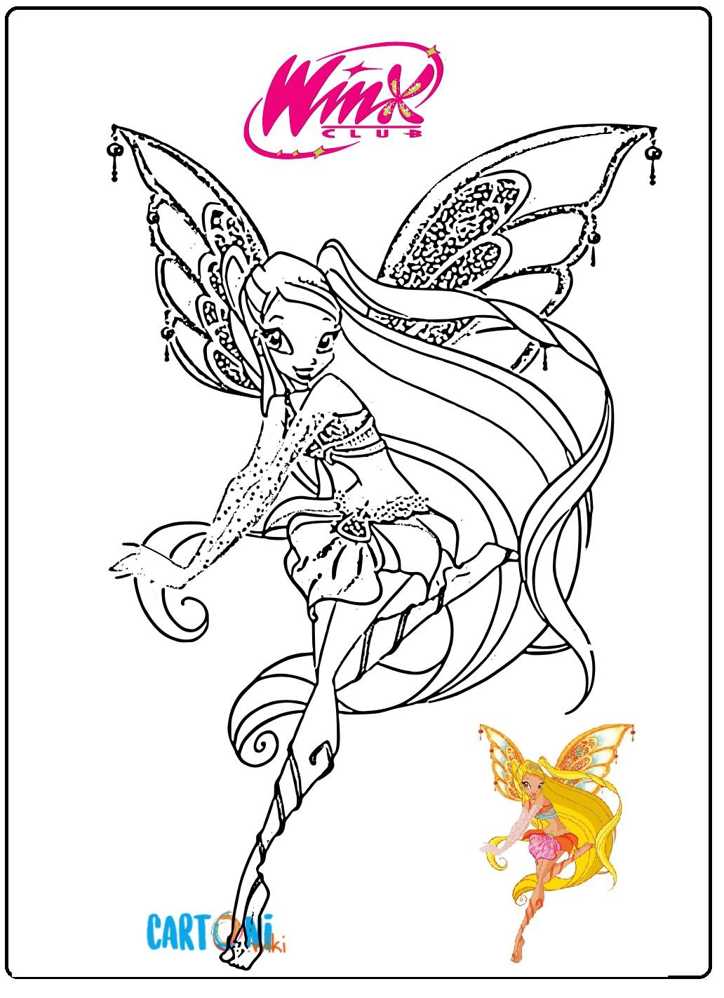 Stella Winx Club Da Colorare Cartoni Animati