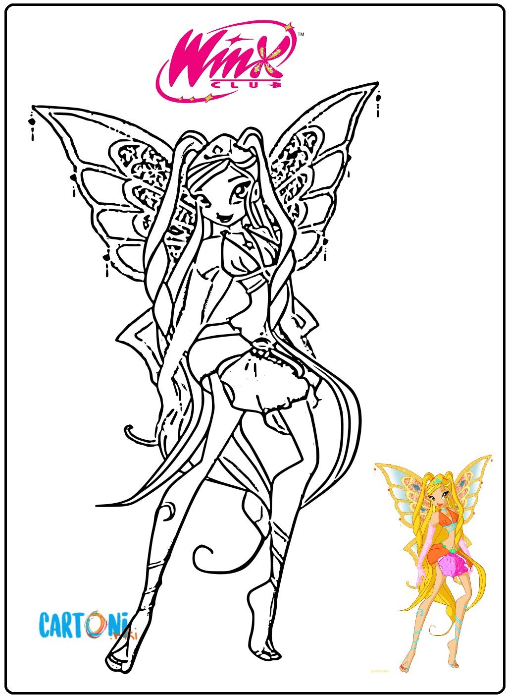 Stella Enchantix da stampare e colorare - Disegni da colorare