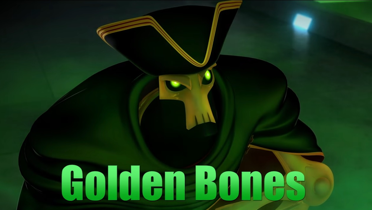 Zak Storm personaggio Golden Bones personaggi cartone animato netflis Dea Kids