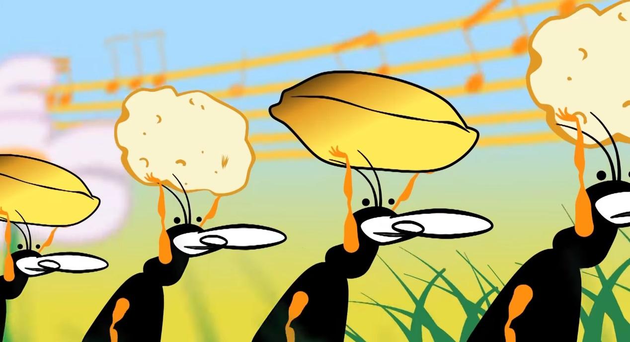 La cicala latina cartoni animati