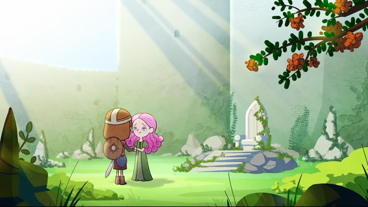 La rosa e il bambino cartoni animati