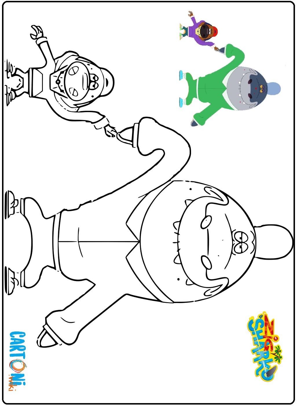 Zig & Sharko disegni da colorare - Disegni da colorare