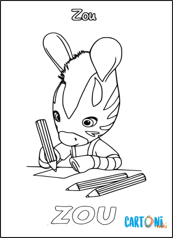 Zou Zebra disegni da colorare - Disegni da colorare