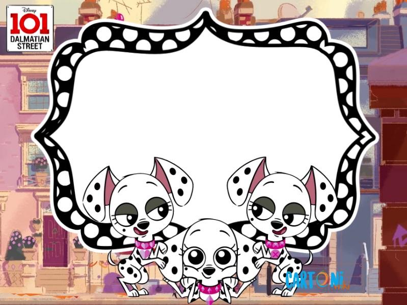 101 dalmatian street invito festa compleanno - Cartoni animati