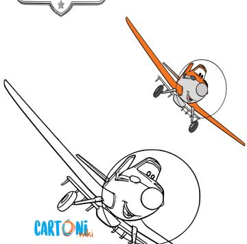 Planes disegni da colorare - Cartoni animati