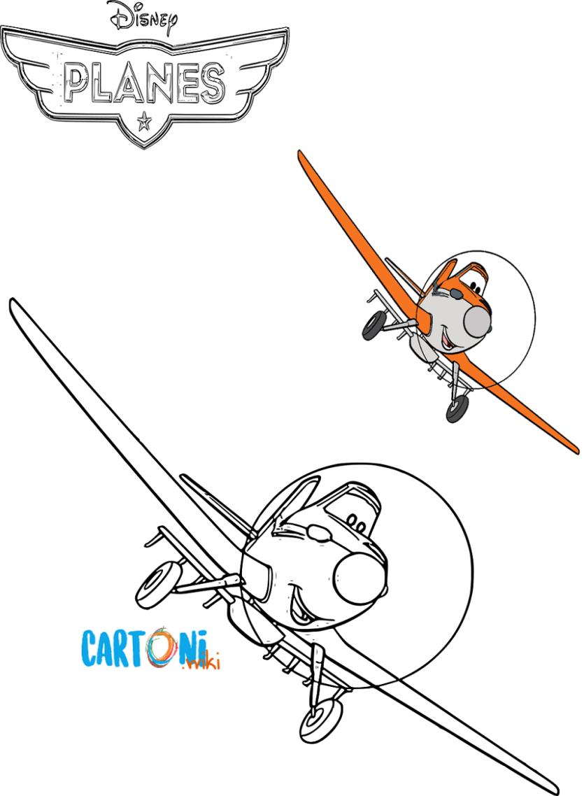 Disegno Aereo Da Colorare.Planes Disegni Da Colorare Cartoni Animati