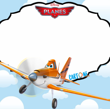 Disney Planes invitation template - Cartoni animati
