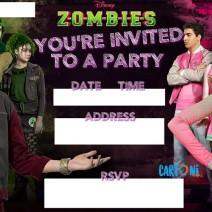 Disney Zombies Invitation - Party Invitations