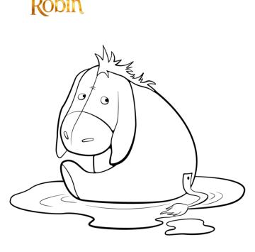 Disegno da colorare Winnie The Pooh  - Cartoni animati
