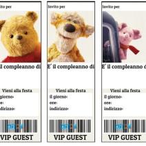 Winnie The Pooh inviti festa compleanno bambini - Inviti feste compleanno