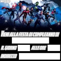 Avengers Endgame inviti festa compleanno - inviti compleanno online