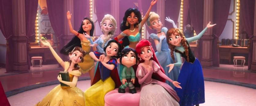 Le principesse Disney in Ralph Spacca Internet - Cartoni animati