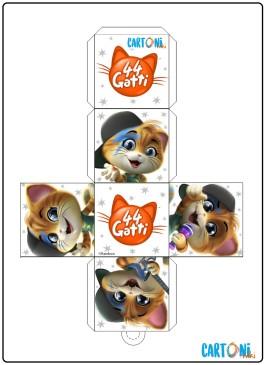 44 gatti Cubi da ritagliare