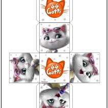 44 gatti ritaglia il cubo di Pilou - Attività per bambini