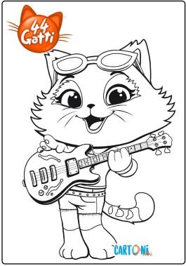 44 gatti colora lampo cartoni animati for Immagini gatti da colorare
