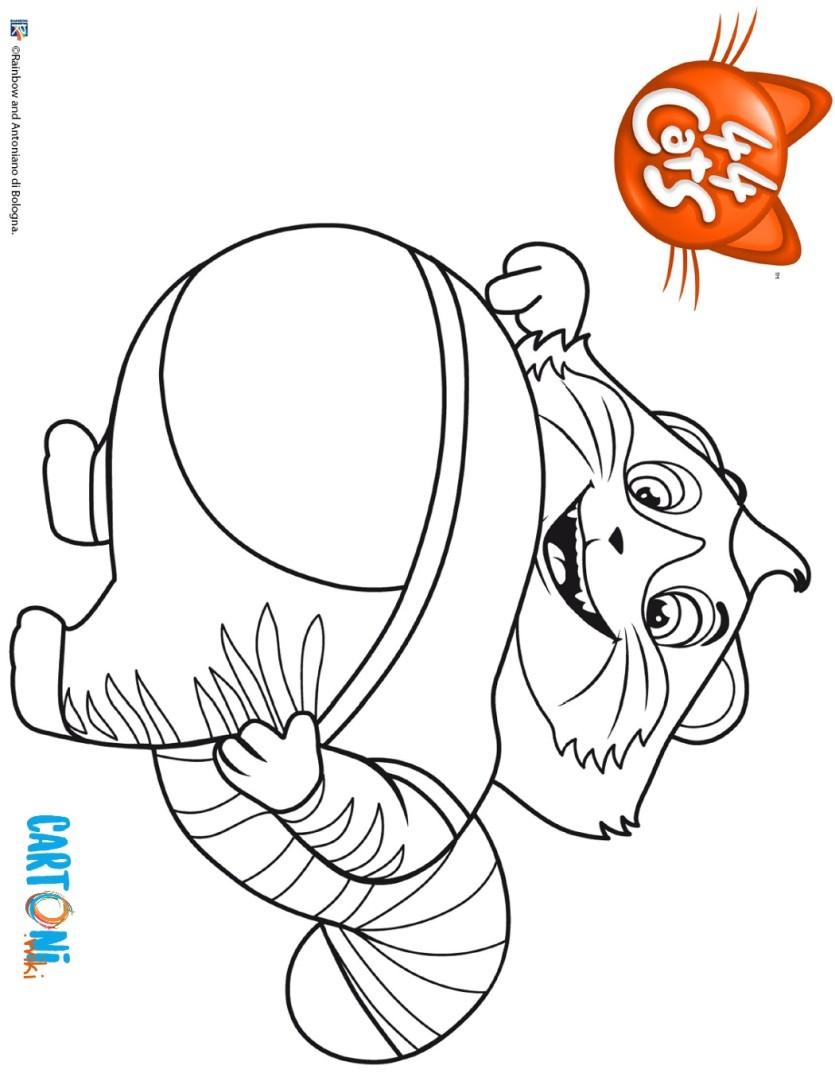 44 Gatti Colora Polpetta Cartoni Animati