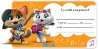 44 Gatti - Invito festa compleanno bambini - Inviti feste compleanno