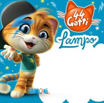 44 gatti Invito compleanno Lampo - Cartoni animati