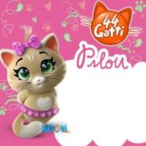 44 gatti Invito compleanno Pilou - inviti compleanno online