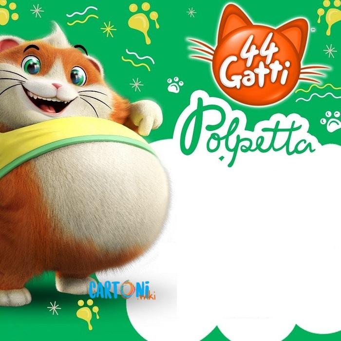 44 gatti inviti compleanno Polpetta - Cartoni animati