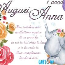 Auguri Anna per il tuo primo compleanno - Anna