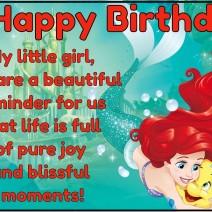 Ariel Happy Birthday Princess Disney - Happy birthday
