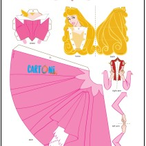 Aurora crea bambola di carta Principessa Disney - Attività per bambini