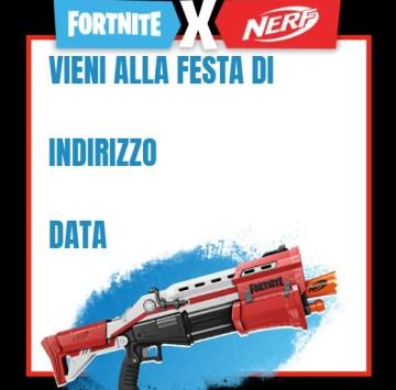 Invito compleanno Nerf Fortnite - Cartoni animati