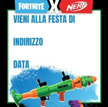 Inviti da stampare Nerf Fortnite - Cartoni animati