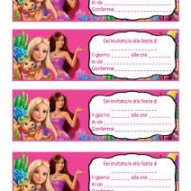 Inviti festa compleanno Barbie la magia del delfino - Inviti feste compleanno