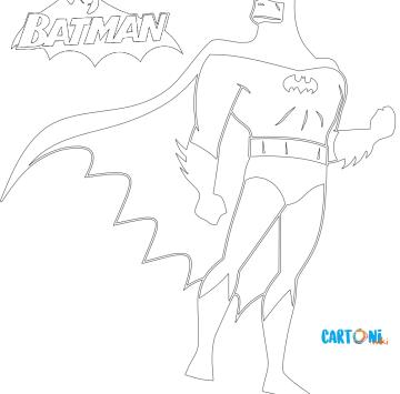 Batman Disegni da colorare - Cartoni animati
