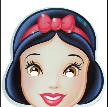 Maschera Biancaneve da stampare - Cartoni animati