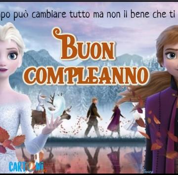 Frozen 2 biglietto auguri buon compleanno - Cartoni animati