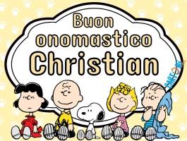 Buon onomastico Christian