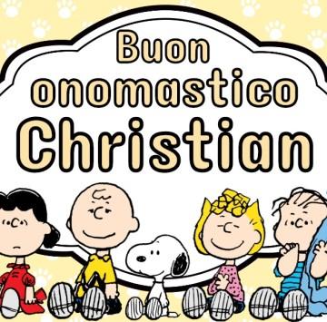 Buon onomastico Christian - Cartoni animati