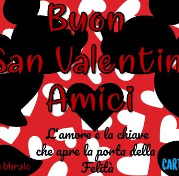 Buongiorno e Buon san Valentino Amici - Cartoni animati