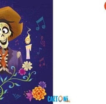 Invito con Miguele  Hector da stampare - Cartoni animati