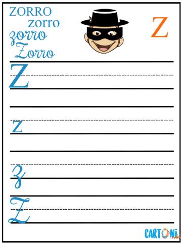 Cartoni animati esercizi scuola elementare lettere alfabeto