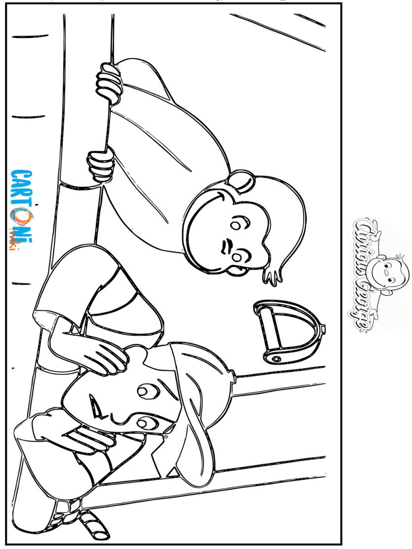 Disegno Curioso Come George Da Stampare Cartoni Animati