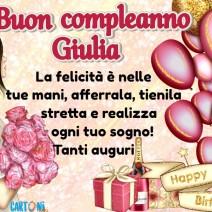 Auguri di buon compleanno Giulia - Giulia