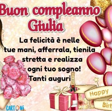 Auguri di buon compleanno Giulia - Cartoni animati